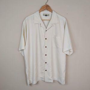 Tommy Bahama Silk Short Sleeve Button Up Shirt L